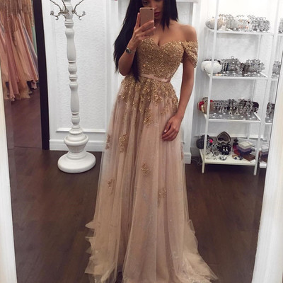 Champagne Color Prom Dresses Sexy Beading Prom By Dresses On Zibbet
