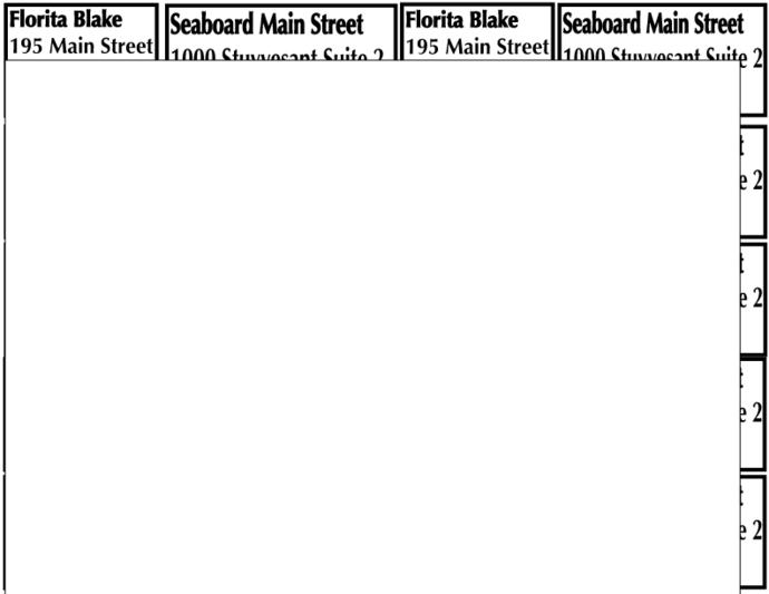 Custom order address- Math seat labels