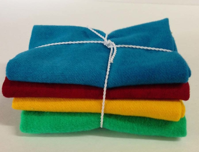 """4 Piece Jewel 12"""" x 18"""" Hand Dyed and Felted Wool"""