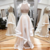 Champagne Two Pieces Long Prom Dress,Cheaper Formal Dresses,Tulle Evening