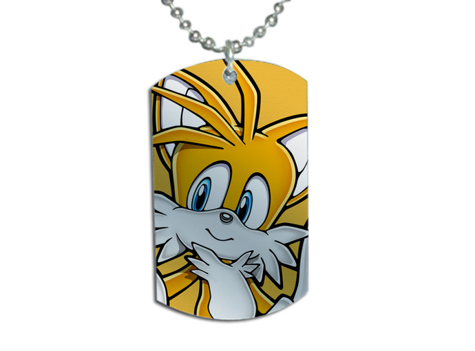 SONIC THE HEDGEHOG Tails version 2 Dog Tag Necklace