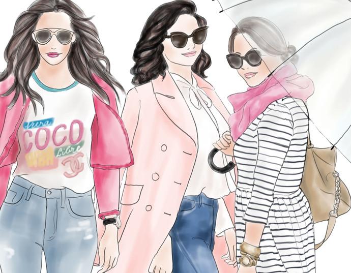 Watercolour fashion illustration clipart - Fashion Girls - Volume 6 - Light Skin