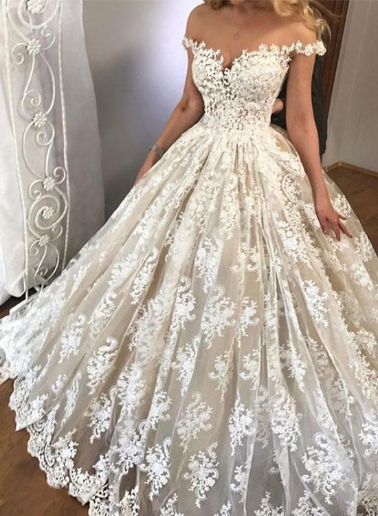 Amazing white lace off shoulder long prom by prom dresses on Zibbet