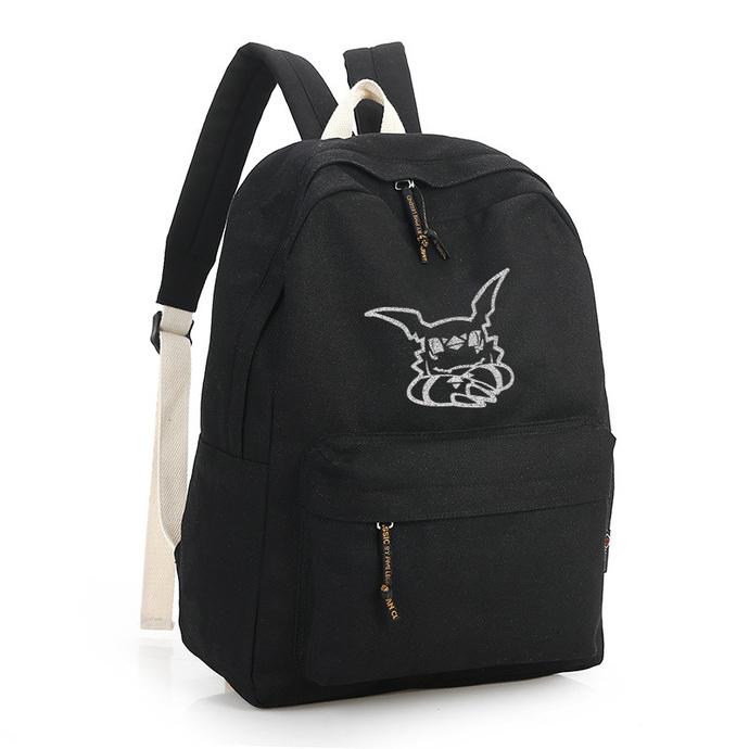 Digimon Guilmon Black Canvas Backpack