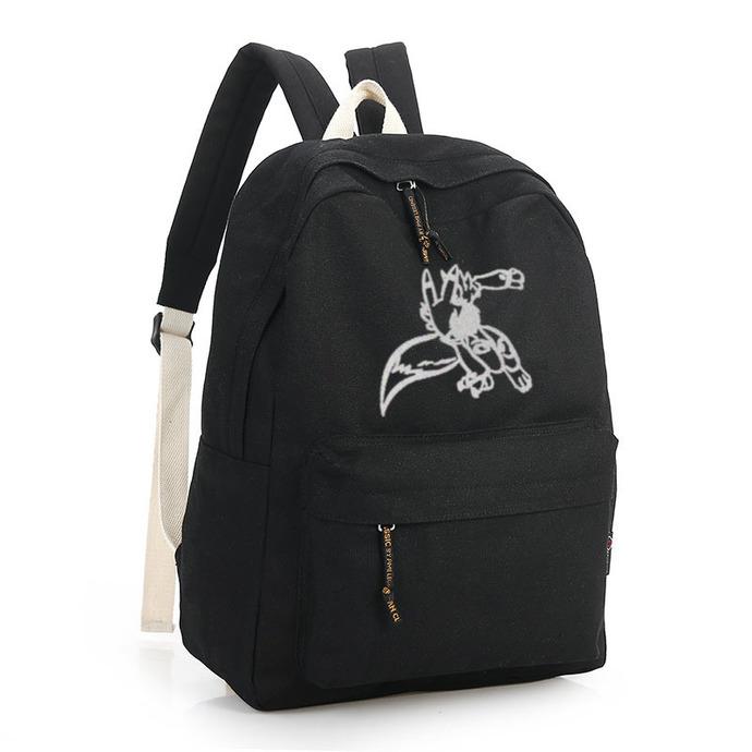 Digimon Renamon Black Canvas Backpack