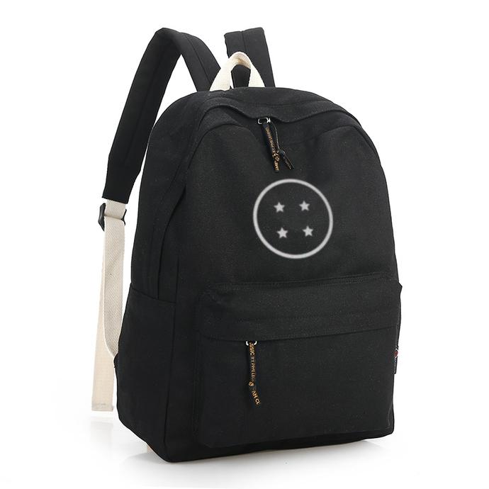Dragonball 4 Stars Black Canvas Backpack