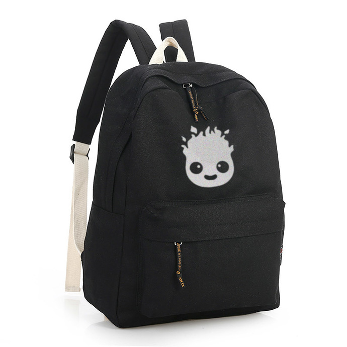 Howl's Moving Castle Calcifer Black Canvas Backpack