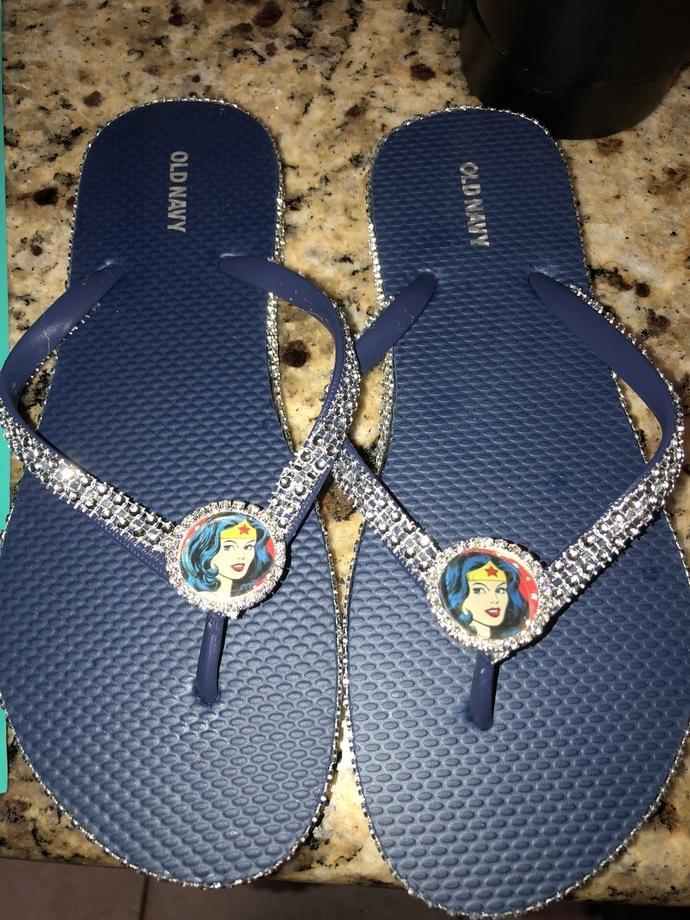 Wonder Women Flip flops