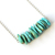 Light Turquoise Sterling Necklace Kingman Arizona Turquoise Chip Necklace