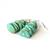 Light Turquoise Sterling Earrings Kingman Turquoise Chips Argentium Silver