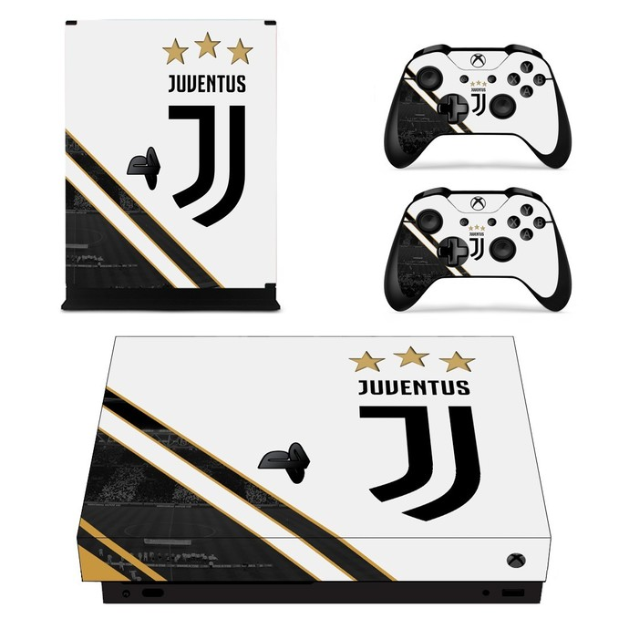 Juventus xbox one X skin decal for console and 2 controllers