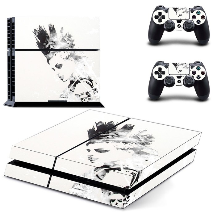 Punk Head ps4 skin decal for console and 2 controllers