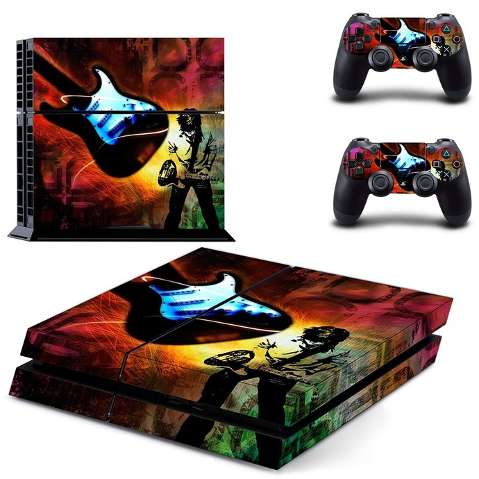 Music my life ps4 skin decal for console and 2 controllers