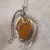 Wire Wrapped Yellow Aventurine Necklace