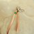 Hammered Copper Spike Earrings, Long Dangles with Green Accent