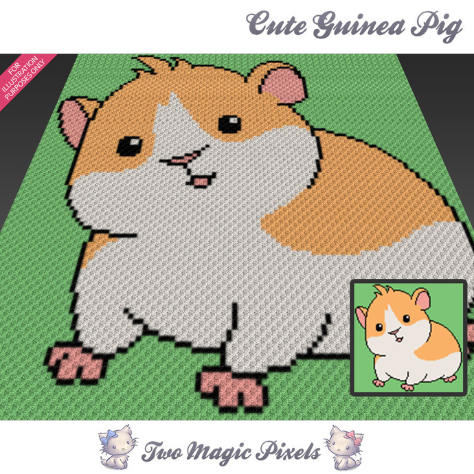 Cute Guinea Pig Crochet Blanket Pattern By Twomagicpixels On Zibbet