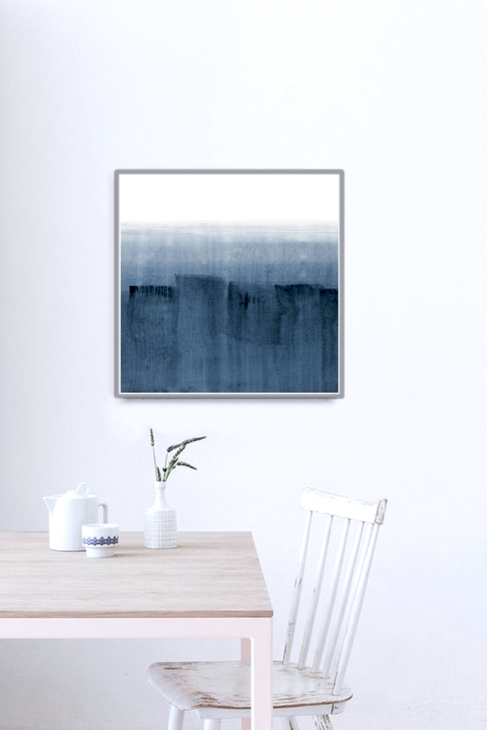 artwork, Abstract Art, blue Aqua Print, Minimalist Wall Art, , Coastal Home