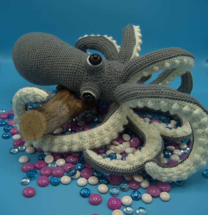 Octopus Amigurumi/Crocheted Stuffed Octopus/Sea Creatures