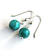 Genuine Sterling Turquoise Earrings Argentium Silver Earwire Kingman Turquoise