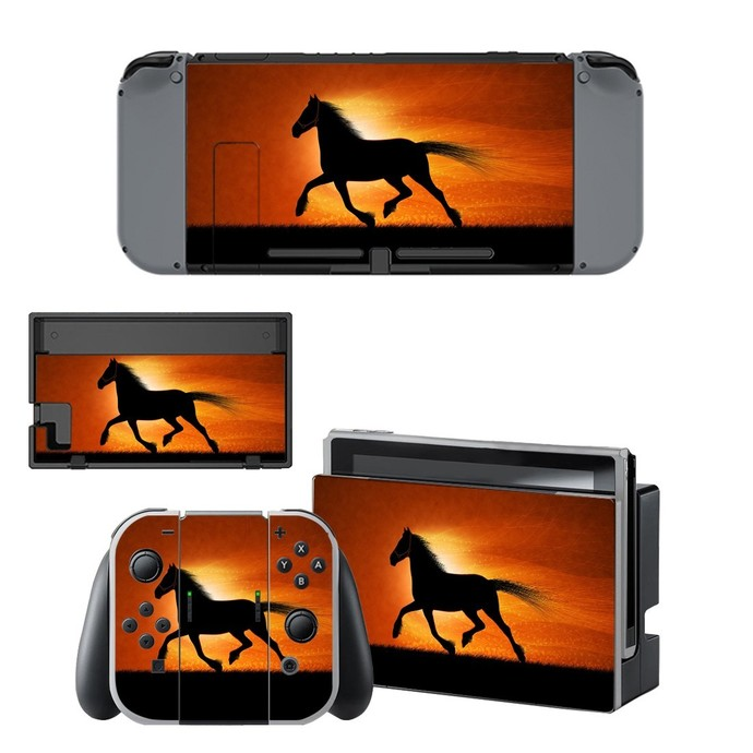 Horse running decal for Nintendo switch console sticker skin