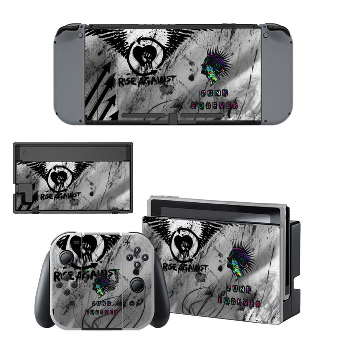 Punk forever decal for Nintendo switch console sticker skin