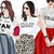 Watercolour fashion illustration clipart - Girls in Graphic T's - Light Skin