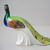 Vintage porcelain bird figurine,peacock, stamped,handpainted