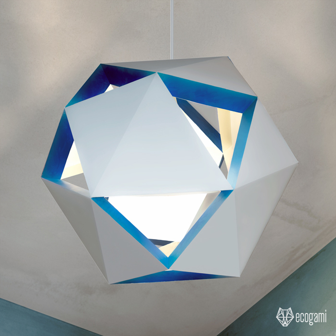 Make Your Own Geo Paper Ceiling Light Diy Paper By
