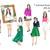 Watercolour fashion illustration clipart - Fashion Girls -Volume 1 - Light Skin