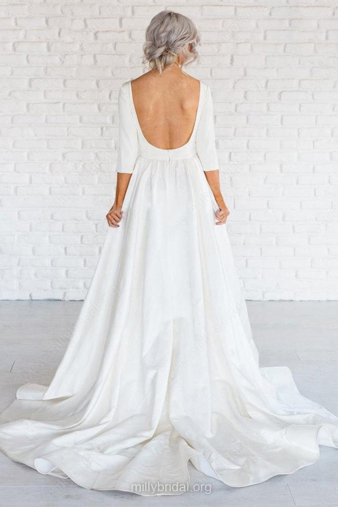 3ef28366a8 Simple Wedding Dress
