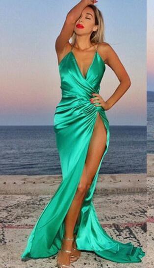 Spaghetti Straps Prom Dresses,Elegant Prom by Miss Zhu Bridal on