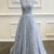 Appliques Prom Dresses, A LIne Prom Dress, Tulle Prom Gown, Long Formal Dresses,