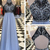 Long Prom Dress 2018, Chiffon Prom Dress, Beading Prom Dress with Open Back, A