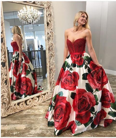 2018 Evening Dresses Fashion Floral