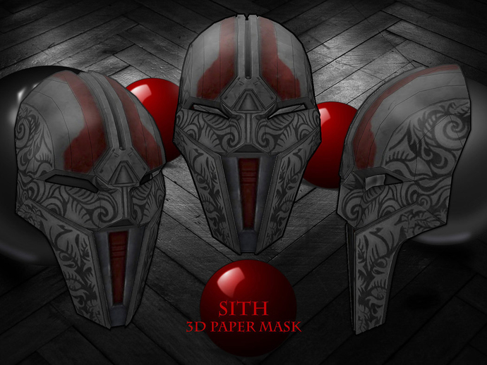 Unique Hero Wars 3D Pattern Printable Mask,cosplay costume, Star mask, party