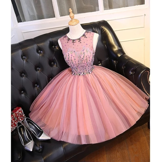 H49 Beading Short/Mini Homecoming Dress Pretty A-Line Homecoming