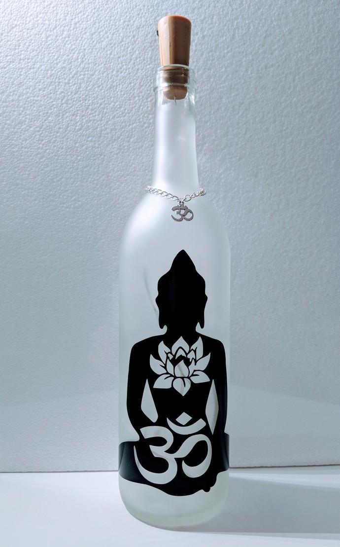 Lotus Buddha light bottle.