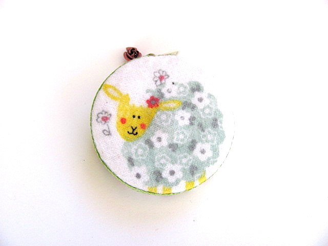 Tape Measure Knitting and  Flower Sheep Retractable Measuring Tape