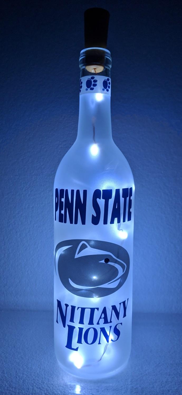 Penn State Nittany Lions light bottle.