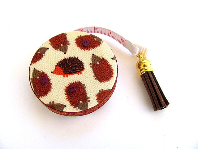 Tape Measure Brown Hedgehogs  Retractable Measuring Tape