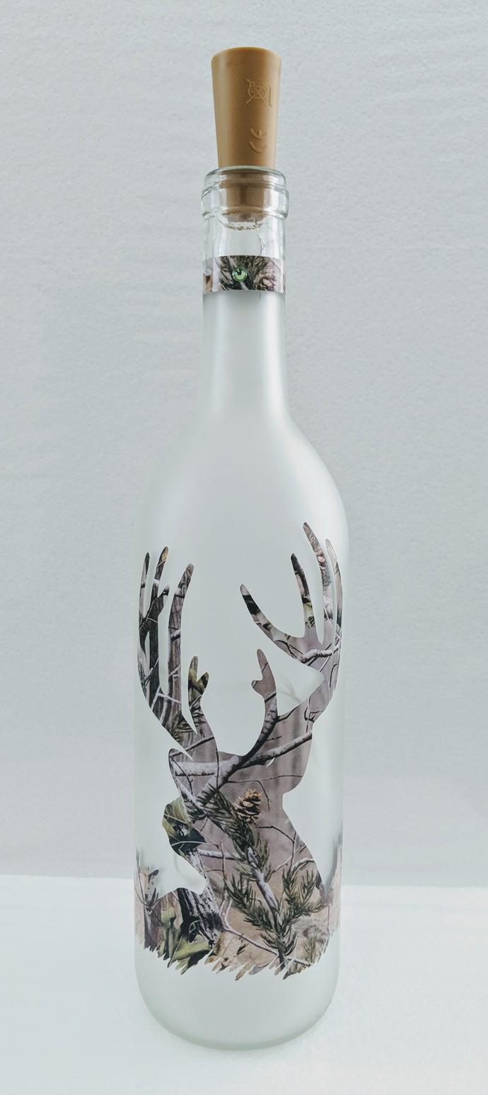 Camouflage deer light bottle.