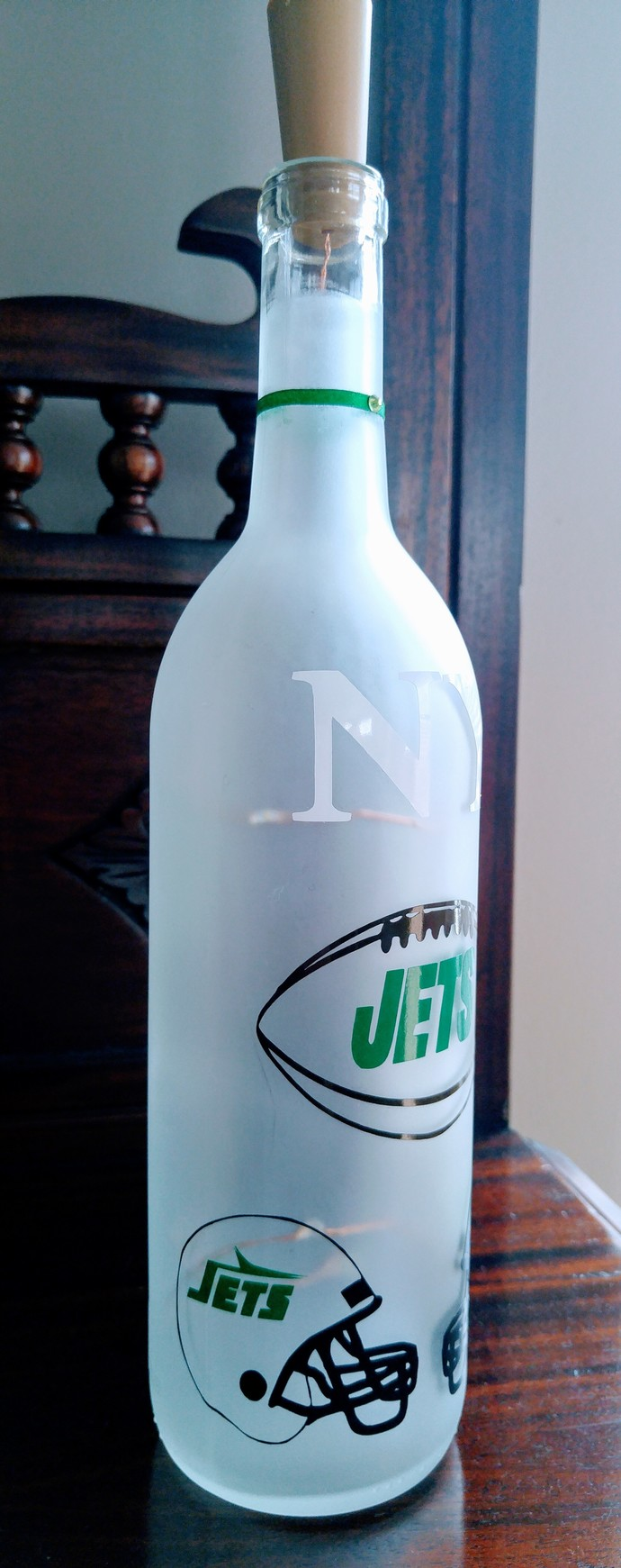 NY Jets light bottle.