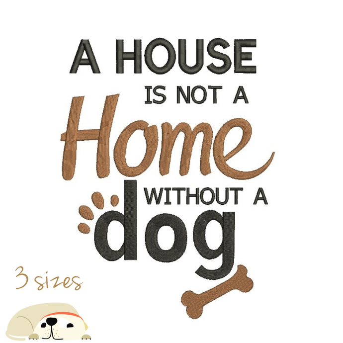 Dog machine embroidery designs house design instant digital download pattern