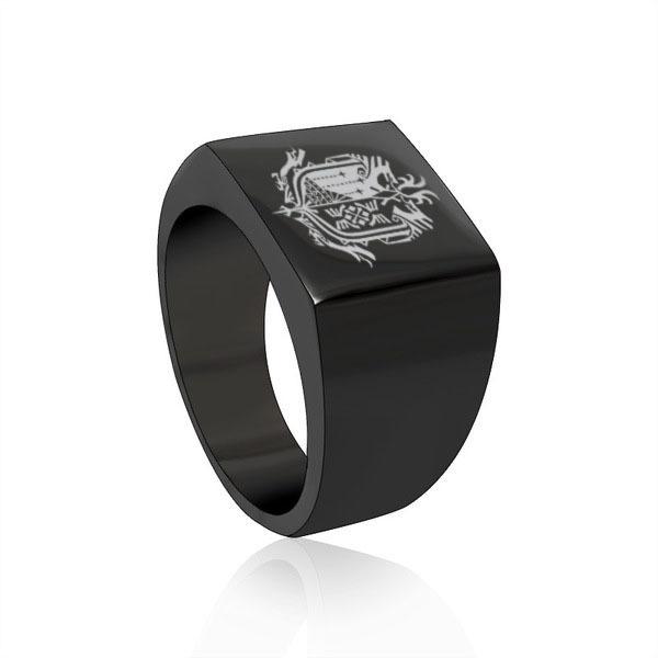 Monster Hunter World Black Square Ring
