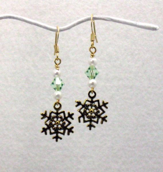 Snow on the Grass Earrings
