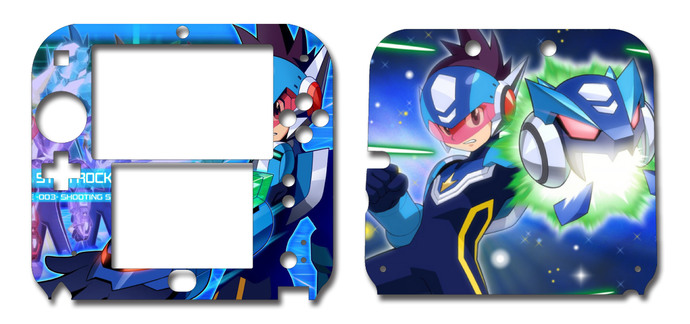 Megaman starforce nintendo 2ds vinyl skin decal sticker