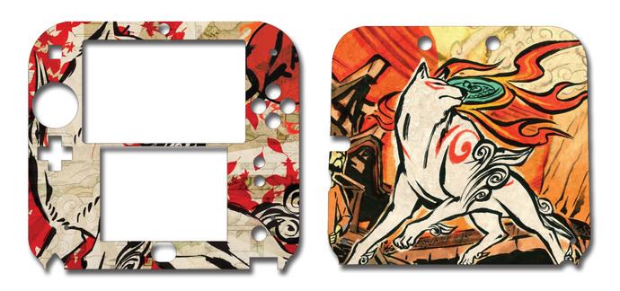 Okami Amaterasu Wolf Nintendo 2DS Vinyl Skin Decal Sticker