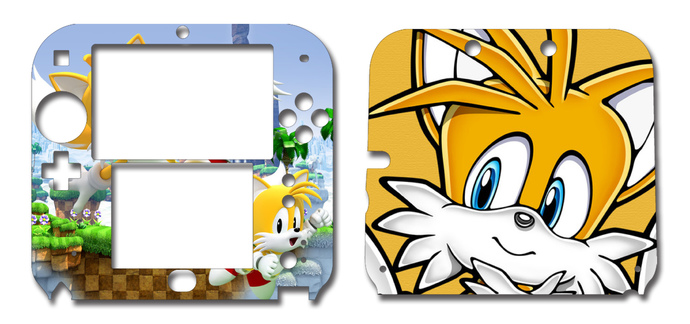 SONIC THE HEDGEHOG TAILS Nintendo 2DS Vinyl Skin Decal Sticker