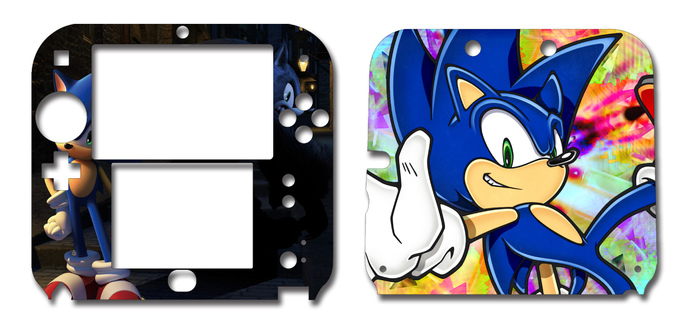 SONIC THE HEDGEHOG Nintendo 2DS Vinyl Skin Decal Sticker