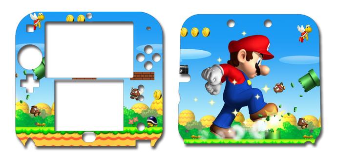 Super Mario Nintendo 2DS Vinyl Skin Decal Sticker
